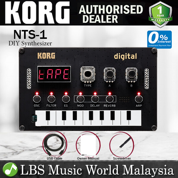 Korg Nu:tekt NTS-1 Monophonic DIY Synthesizer Module Kit with Assembly Tool (NTS1) Malaysia