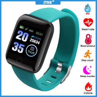 Đồng Hồ Thông Minh Bluetooth JTKE, Vòng Tay Theo Dõi Sức Khỏe Huyết Áp Cho Nam Nữ Thông Minh Đồng Hồ Chống Thấm Nước Thể Thao Smartwatch , Android IOS thumbnail