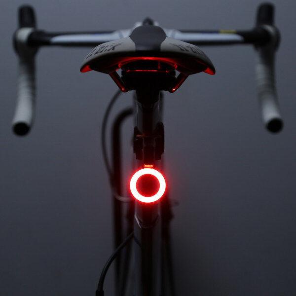 Đuôi Seatpost Flash Đèn Phía Sau USB Sạc Nhiều Chế Độ Chiếu Sáng Đèn Xe Đạp