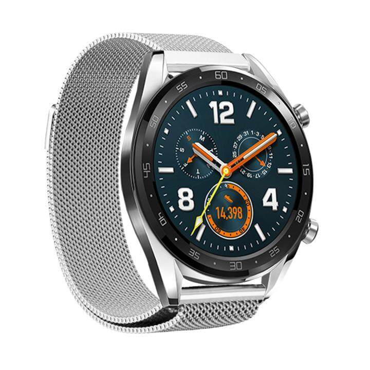 43861937351e9d Milanese Loop Stainless Steel Watchband Quick Release for Huawei Watch GT  honor watch Magic Band Wrist