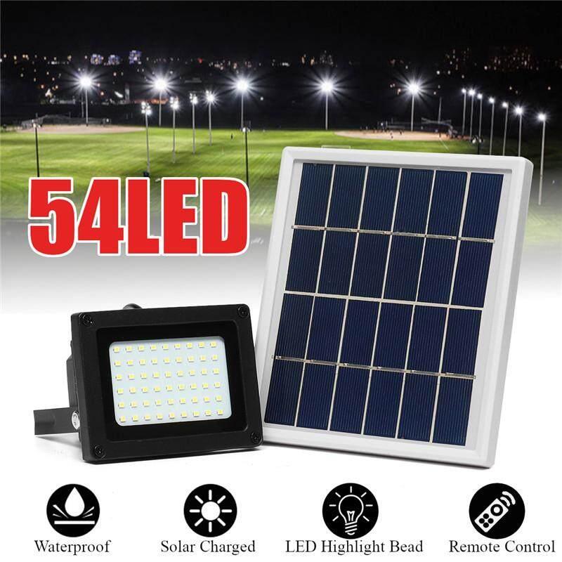 【Free Shipping + Flash Deal】 High Brightness 54LED Solar Powered Flood Light Outdoor Walkway Park Street Lamp Wall Lights
