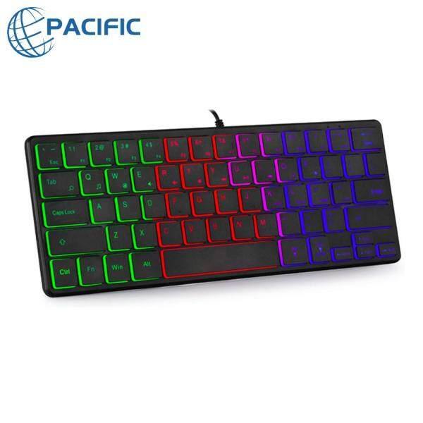 64 Keys RGB Backlit Wired Keyboard Luminous Gaming Computer PC Keyboard Singapore
