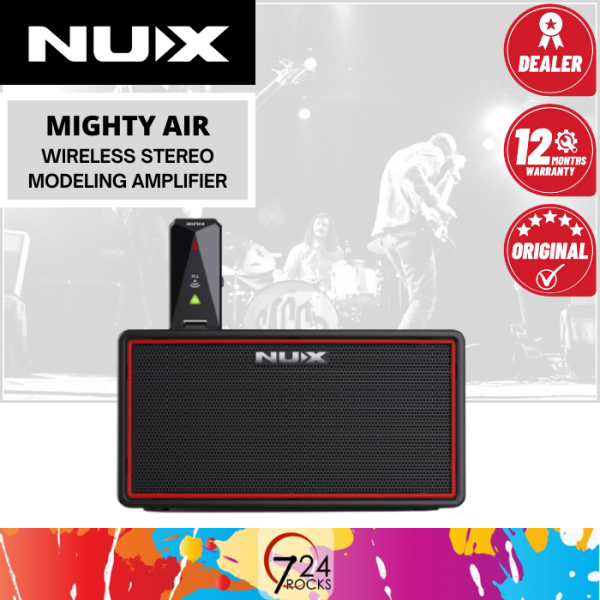 724 ROCKS NUX Mighty Air Wireless Stereo Modelling Guitar & Bass Amp / Amplifier with Bluetooth Connectivity Malaysia