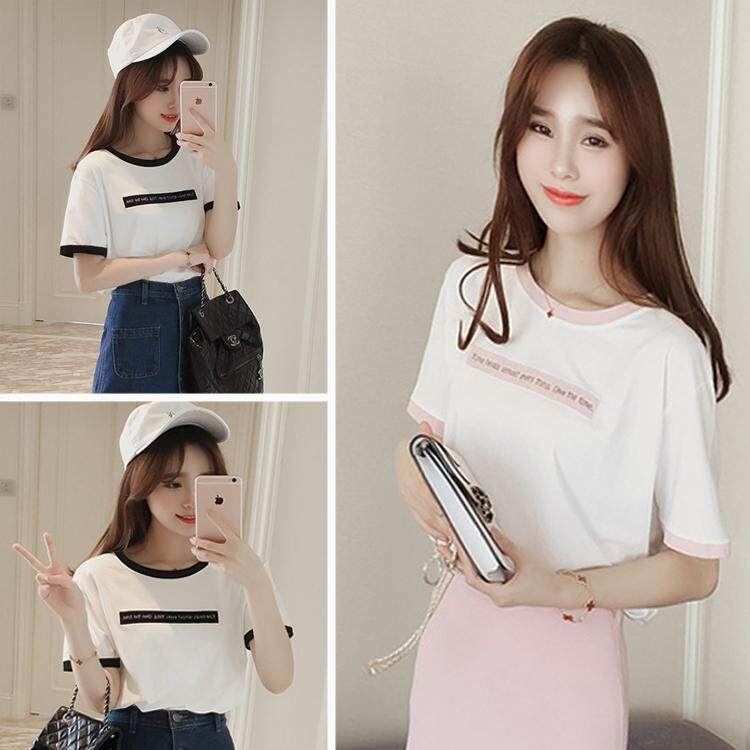 05a702f51 Plus Size M-XXL Korea style women summer New fashion Printed loose Casual  short sleeve