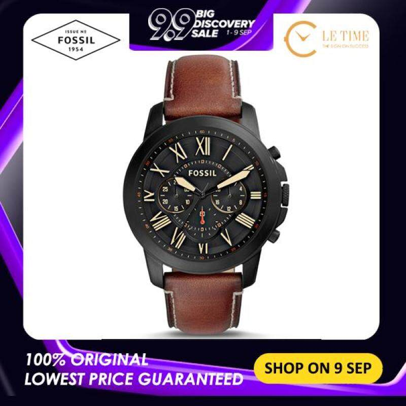 [Authentic] Fossil Grant Chronograph Luggage Leather Men Watch Jam Tangan Lelaki FS5241 For Man Malaysia