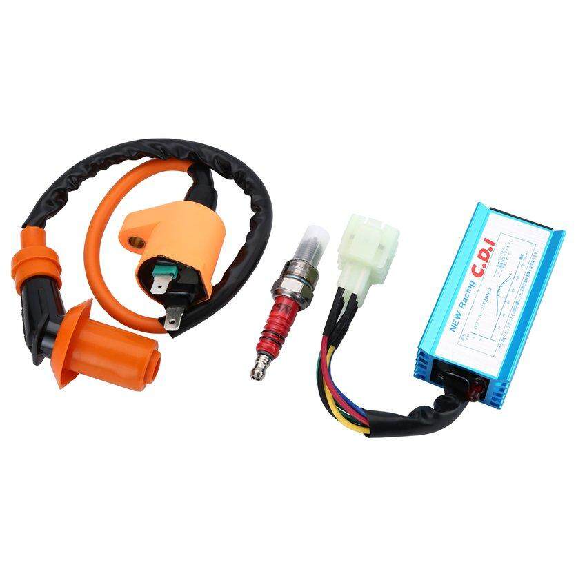 oh 3pcs set 6pin 50cc 150cc ignition coil and cdi box with spark plug set