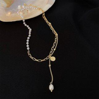 Huge Bud Necklace 14k Real Gold Plated Pearl Pendant Collares Collier Designer Jewelry Luxury Necklace for Girl Women Choker thumbnail