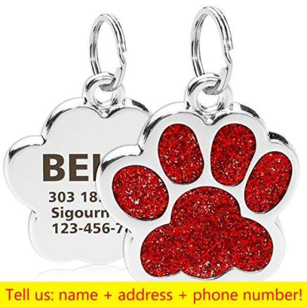 Thẻ Tên Mèo Thú Cưng Khắc Cá Nhân, Thẻ ID Chó Tùy Chỉnh Phụ Kiện Vòng Cổ Mặt Dây Chuyền Chống Mất Bảng Tên Móc Khóa Kim Loại DHCYJSM