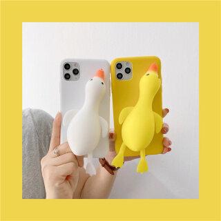 Đồ Chơi Mát Xa Âm Thanh Nổi 3D, Giải Nén Tuyệt Vọng Vịt Trường Hợp Điện Thoại Ốp Bảo Vệ Silicon Mềm Cho IPhone 12 Pro Max 12 Mini 11 Pro XR XS Max SE 7G 6S 8 Plus thumbnail