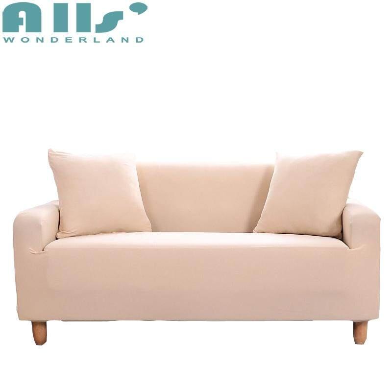 【Sofa Slipcover】Cheap Solid Color Sofa Cover 1 2 3 4 seater, Universal Slipcover Fit for 99% Sofa, Stylish Furniture Protector for I/L Shape Sofa, Form Fit Slip Resistance