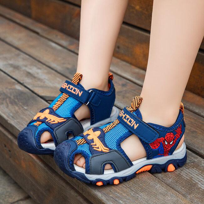 ( TG ) Xăng Đan Bé Trai, Giày Thời Trang, Xăng Đan Trẻ Em Đi Biển Hoạt Hình Cut Outs Giày Vải Bé Trai Mùa Hè Cho Bé Trai giá rẻ