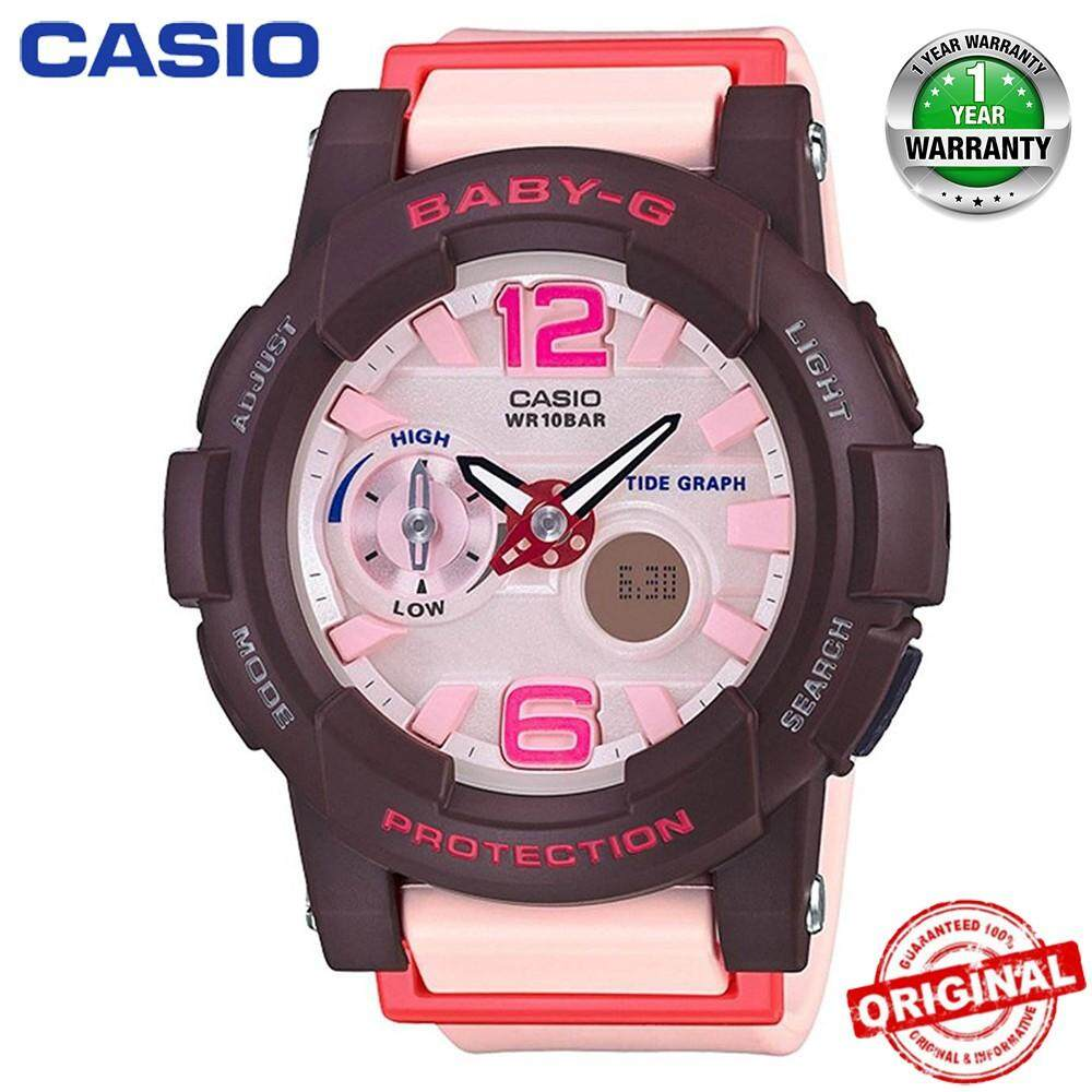 (Ready Stock) Original Casio Baby G_GA-110DC-1A Men Sport Watch Duo W/Time 200M Water Resistant Shockproof and Waterproof World Time LED Auto Light Wist Sports Watches with 2 Year Warranty BGA180/BGA-180 Malaysia