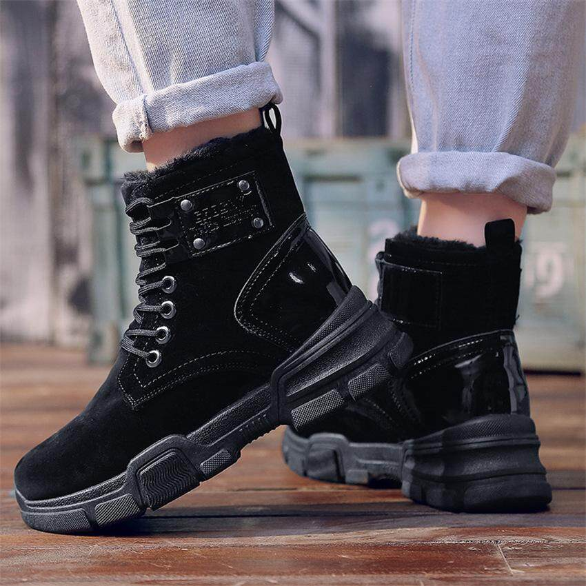 f895ccf80e420 New Arrival Fashion Suede Leather Women Snow Boots Winter Warm Plush  Women's Boots Waterproof Ankle Boots
