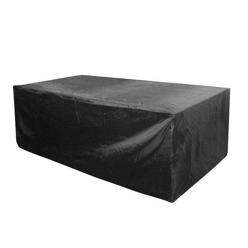 Veli shy Garden Patio Furniture Cover Waterproof Rectangular Outdoor Rattan Table Cover Black 120*120*74