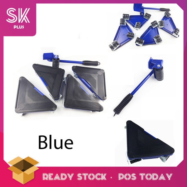 SKPLUS 5 Pcs New Furniture 360 degree Mover Heavy Stuffs Moving Tools Set With Wheels - Fulfilled by SKPLUS