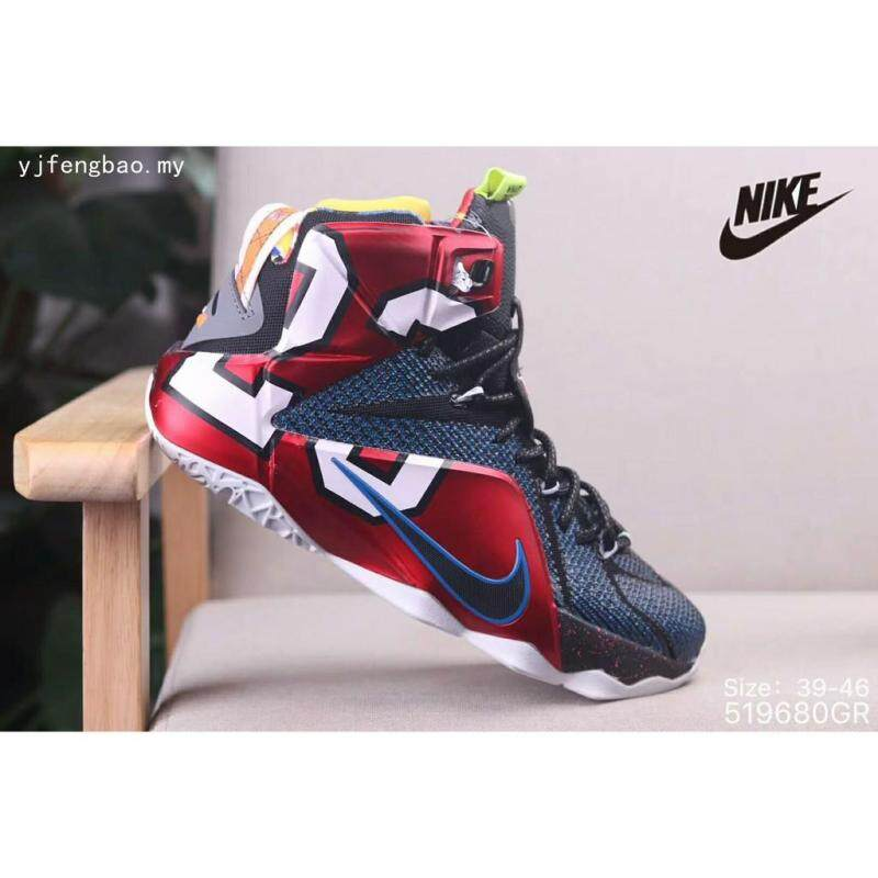 Sepatu Nike Pria LEBRON Raymone James 12 Elite Berjalan Sepatu Basket Ukuran 39-46