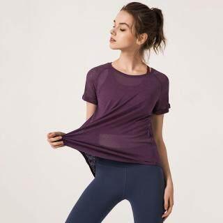 Cao Cấp Phụ Nữ Lưới T-shirt Áo Tập Yoga Tops Chạm Khoét Thể Dục Thoáng Khí Thể Thao T Áo Sơ Mi Phòng Tập Thể Dục Áo Khoác Chạy Bộ Áo Ba Lỗ Tập Luyện thumbnail