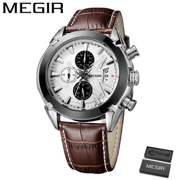 MEGIR 2020 Top Luxury Brand Watch For Man Fashion Sports Men Quartz Watches Trend Wristwatch Gift For Male jam tangan lelaki Malaysia