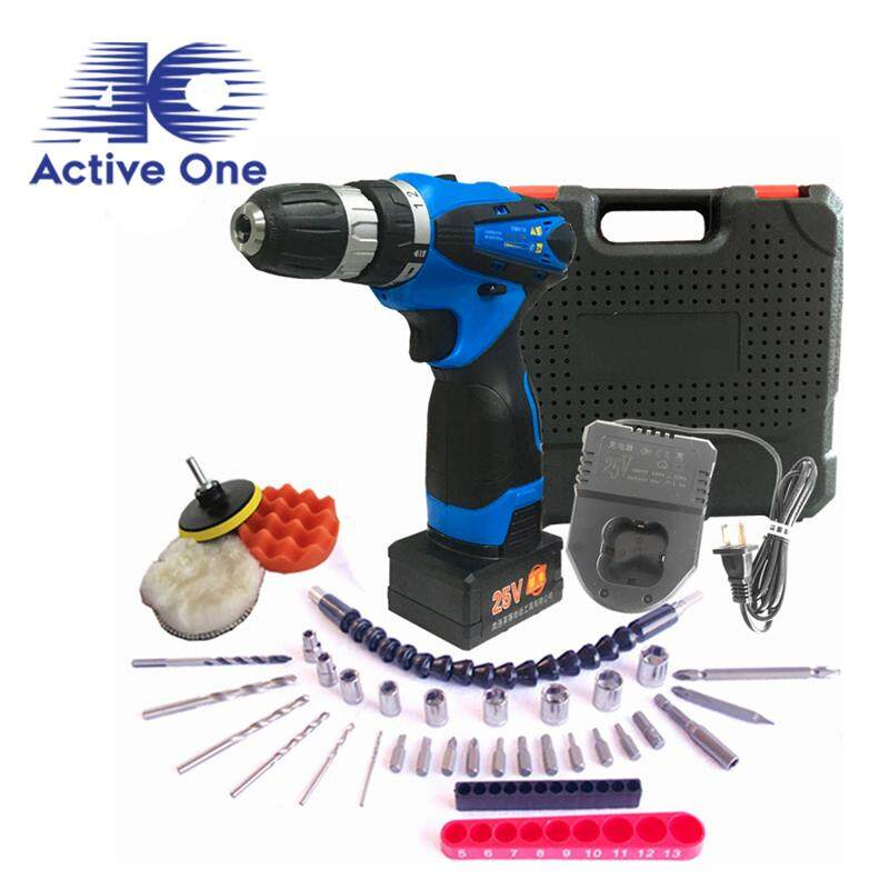 ActiveOne 25V Multi-function Lithium Rechargeable Hand Drill Electric Screwdriver Set (25AD) - Fulfilled By ACTIVEONE