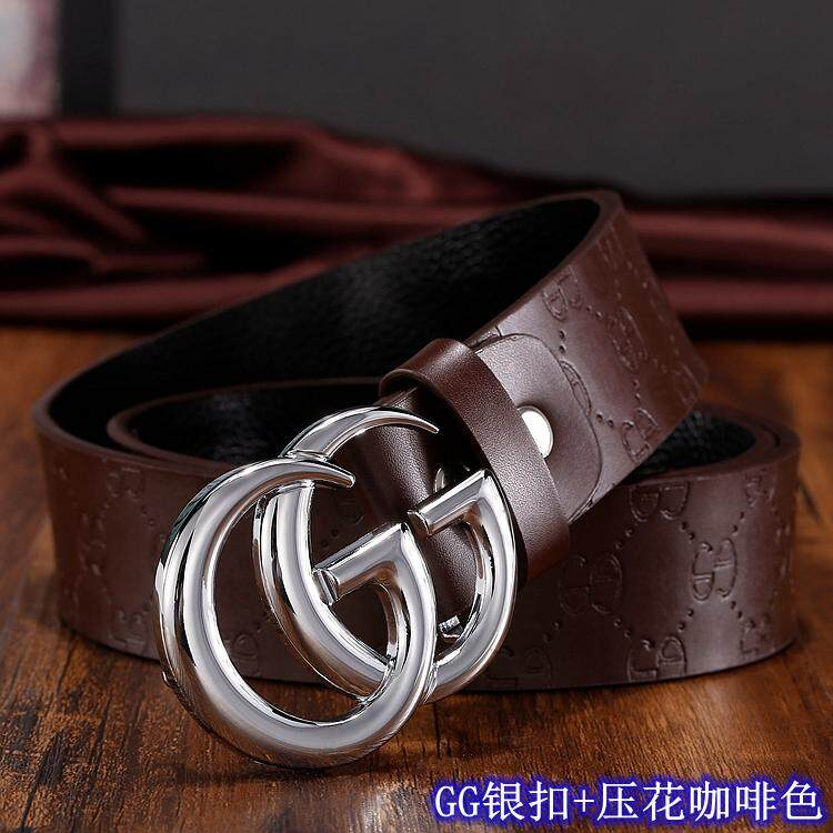 e1172ea0f32 Three-color buckle fashion belt leather men s and women s luxury belt