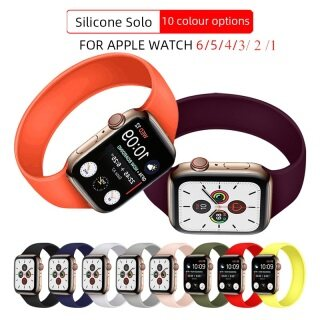 Dây Đeo Vòng Solo Cho Đồng Hồ Apple Watch Serie 6 SE 5 4 Dây Đeo Tay Thể Thao Silicon 40Mm 44Mm Đồng Hồ Đeo Tay Correa I 3 2 1 Dây Đeo 38Mm 42Mm thumbnail