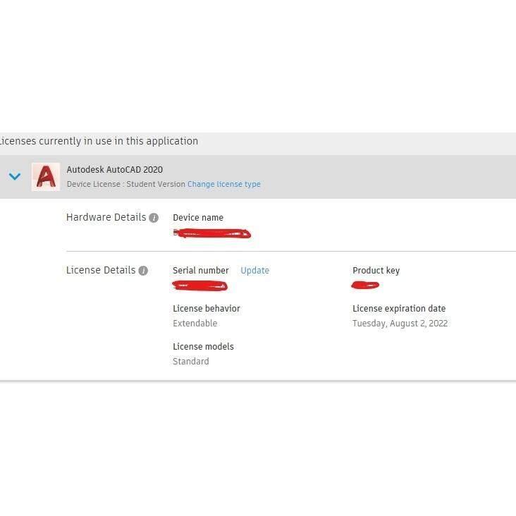 [Genuine]Autodesk AutoCAD 2020/ 2019 3 Years License [Window/Mac OS] EDU  LICENSE