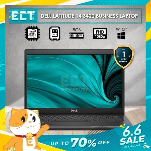 Dell Latitude 14 (3420) Business Laptop (i5-1135G7 4.20Ghz,512GB SSD,8GB,14 FHD,W10P) Malaysia