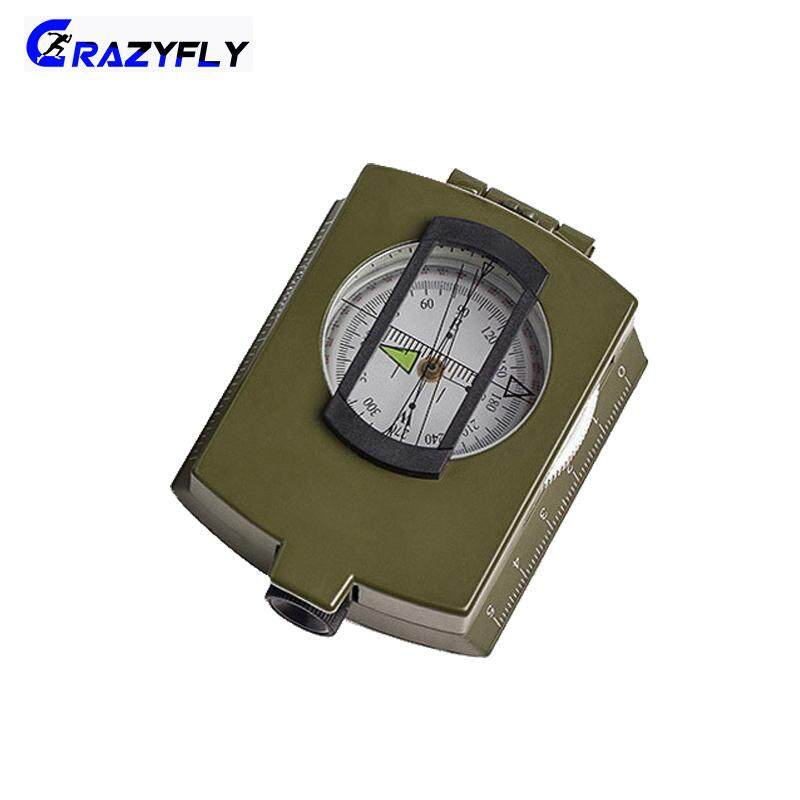 Crazyfly Multifunctional Alloy Compass Luminous Folding Compass For Hiking Camping Practical By Crazyfly.