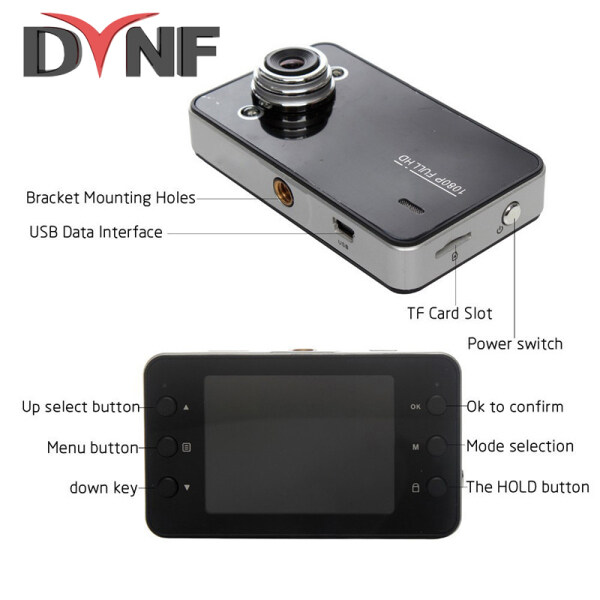 Máy Ghi Hình Mini DVR Máy Quay K6000, Máy Đo Tốc Độ Tự Động Lái Xe Full HD 2.3 1080 Camera Hành Trình Nhìn Đêm Góc Chụp 90 Độ