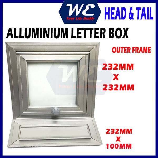 ⚡READY STOCK⚡ HEAVY DUTY Aluminium Letter Box/ Peti Surat Aluminium (Head & Tail Panel Set) Mail Box