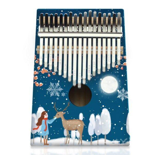 Màu Kalimba 17 Phím Gỗ Ngón Tay Tiện Dụng Piano PIANO Người Mới Bắt Đầu Nhạc Cụ Vẽ Chuyên Nghiệp Dễ Học