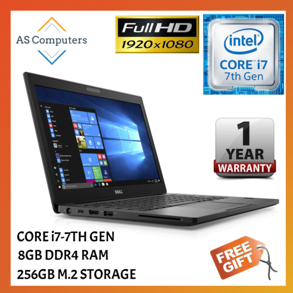 DELL LATITUDE E7280 (12.5 INCH) [INTEL CORE i7-7TH GEN / 8GB DDR4 RAM / 256GB M.2 SSD STORAGE / WINDOWS 10 PRO / 1 YEAR WARRANTY / FREE BAG] Malaysia