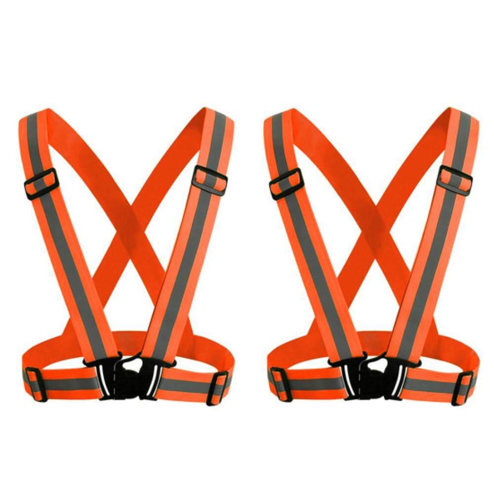 Reflective Vest with High Visibility Bands Tape Multi-Purpose Adjustable Elastic Safety Belt for Night Running Cycling Motorcycle Dog Walking