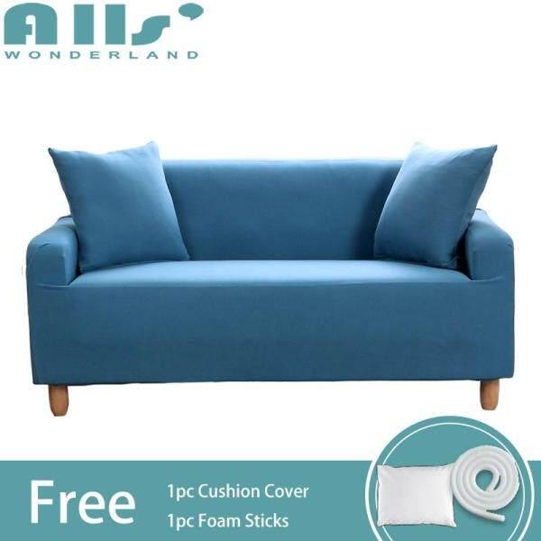 Slipcover 1 2 3 4 seater Pure Color Stretch Sofa Slipcover Elastic Universal Corner Sofa Slipcover Furniture Protector Length Range for 90-290cm/35.43-114.17