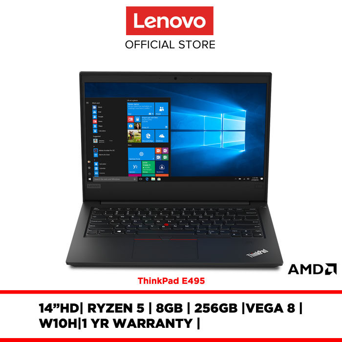 Lenovo Notebook Laptop ThinkPad E495 20NES0QC00 14 HD/RYZEN 5/8GB/256GB/VEGA8/W10H/1YR WARRANTY Malaysia