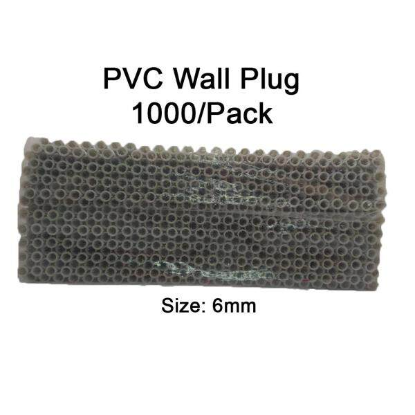 PVC Wall Plug 6mm 1000pcs Per Pack For Wall 6,8 Screws LittleThingy