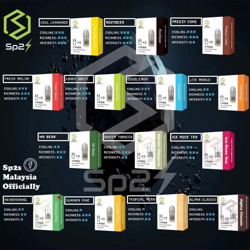 100% Original SP2S refill crystal pod 透明烟弹 RELX|DD|SP2S suitable Ready Stock Malaysia