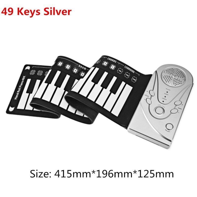Portable 37/49/61/88 Keys Roll Up Piano Flexible Silicone Roll Up Folding Piano Keyboard For Child Student Musical Instruments Malaysia