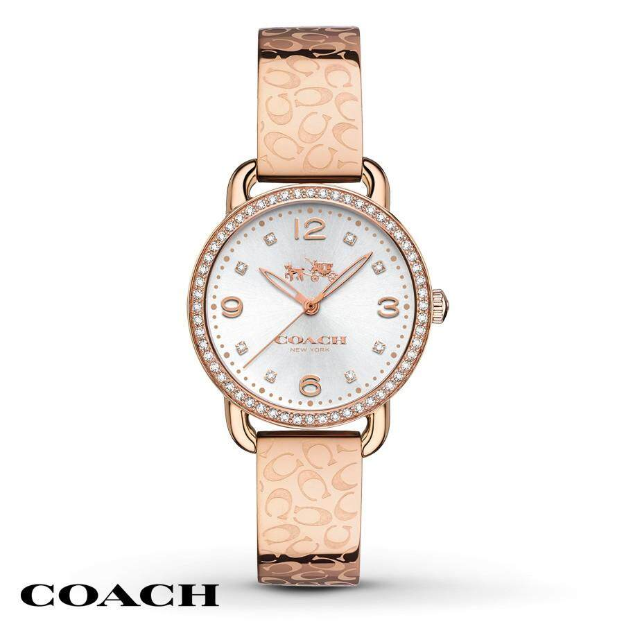 Original Coach Womens Delancey Rose Gold Bracelet Watch 14502355 with 2 Years Warranty Malaysia