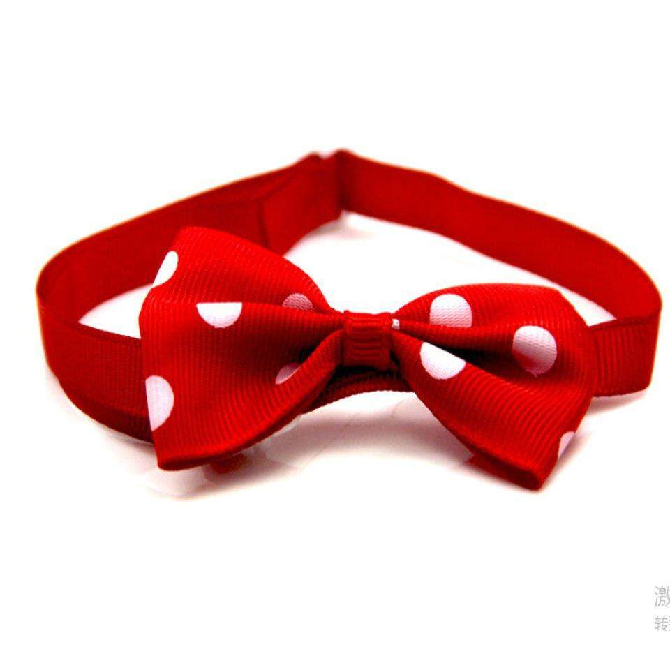 Best Sellers Pet Supplies Adjustable Polka Dot Pet Bow Tie Dress Up Accessories Dog Jewelry