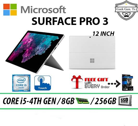 SPECIAL OFFER Microsoft Surface Pro 3 Touchscreen Core i5-4TH GEN 8GB RAM 256GB SSD 12 INCH Without Keyboard Malaysia