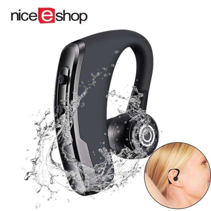 NiceEshop P11 Bluetooth 5.0 Wireless Headphones Noise Cancelling Hands free Stereo Bluetooth Headset with 21h Play Time Earhook Sport sweatproof Earphones for Business Cycling Driving Singapore