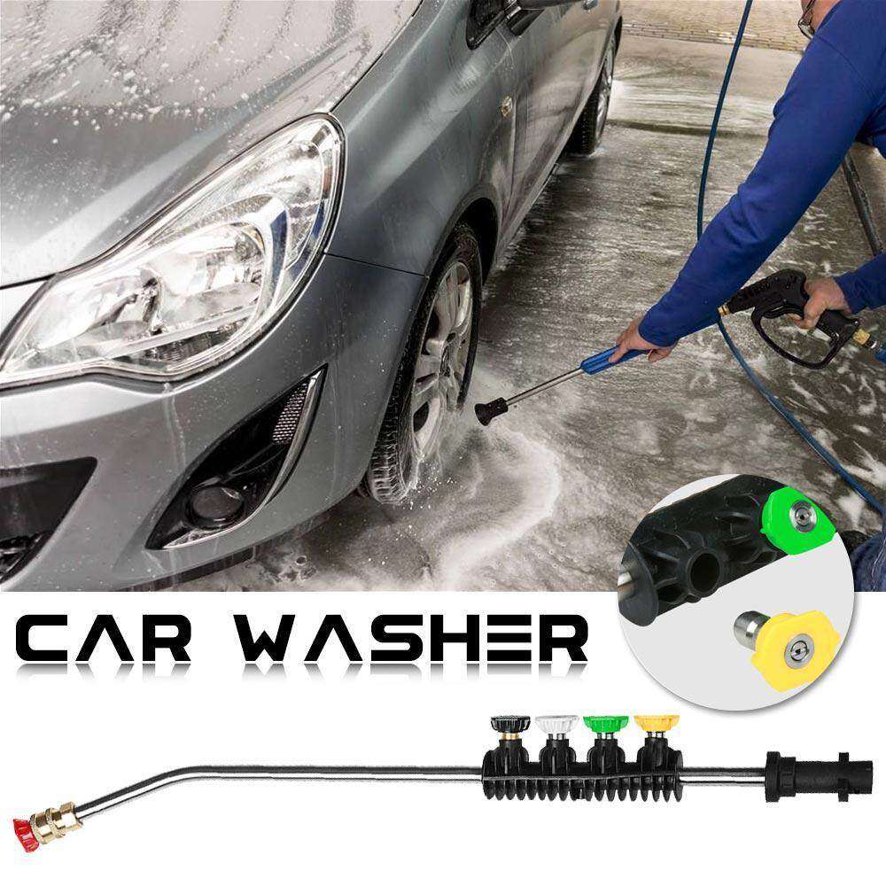 OutFlety Car Pressure Washer Lance Nozzle Wand Extension with Adapter Jet, Replacement Lance, Only for Karcher K2, K3, K4, K5, K6, K7( 15 Inch)