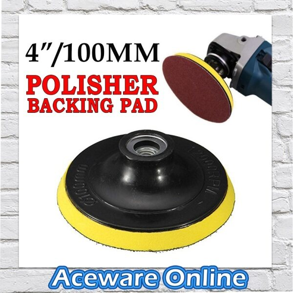 RP100 4 INCH / 100MM M10 Polisher Backing Pad Polish Pad Backer Pad Thread Polishing Buffing Pad