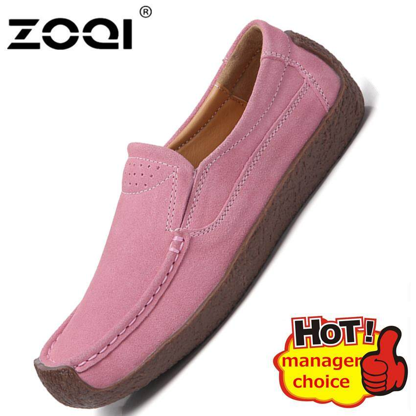 c69d2c7121 ZOQI Fashion Women Loafer Shoes Soft And Comfortable Flat Shoes Casual Shoe  Big Size 35-