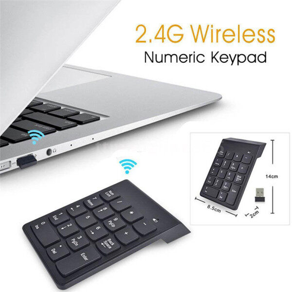 Family Flower Wireless 2.4G Mini USB 18 Keys Number Pad Numeric Keypad Keyboard For PC Laptop Malaysia