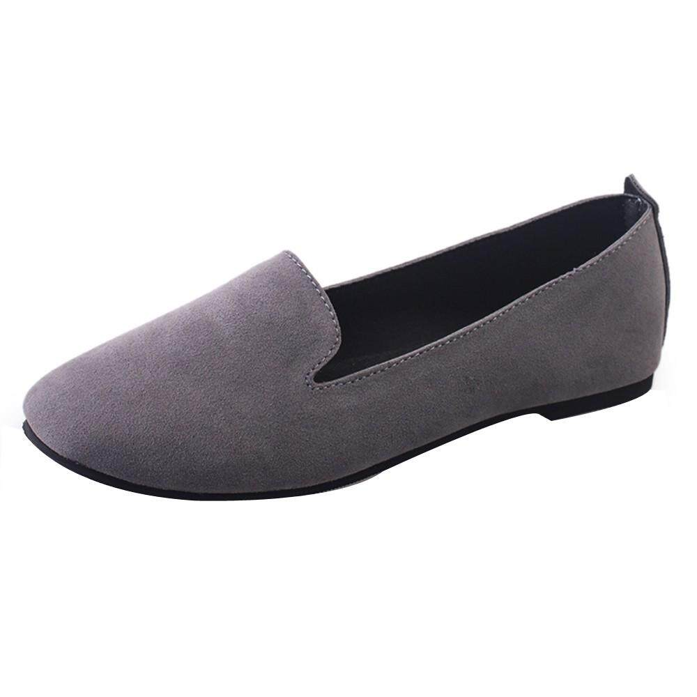 dc0ee66bddc4 Erpstore Women Ladies Slip On Flat Round Toe Shallow Shoes Sandals Casual  Shoes