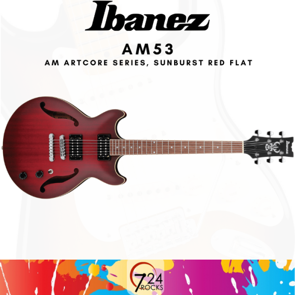 724 ROCKS Ibanez AM53 AM Artcore Series Hollow Body Electric Guitar Malaysia