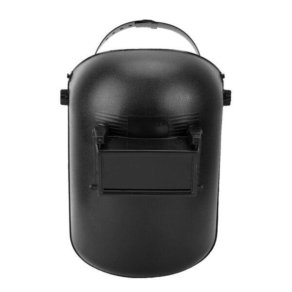 Adjustable welder\s helmet mask mounted on the head for grinding black w