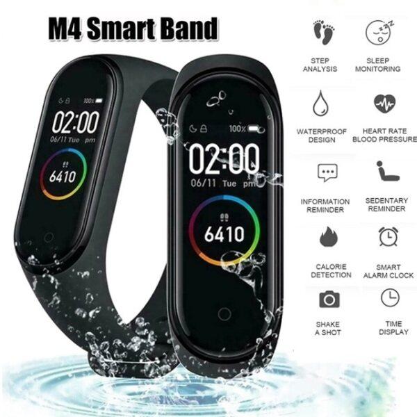 M4 Bluetooth Smart Watch Fitness Tracker smartband Waterproof Bracelet watch Malaysia